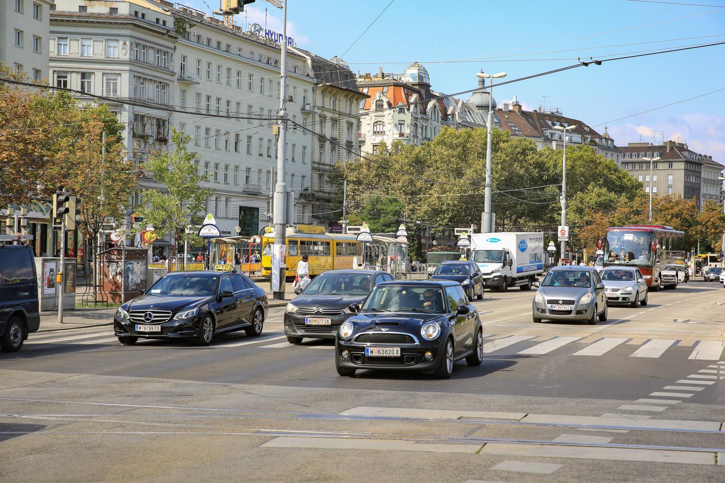 Met de auto naar Wenen