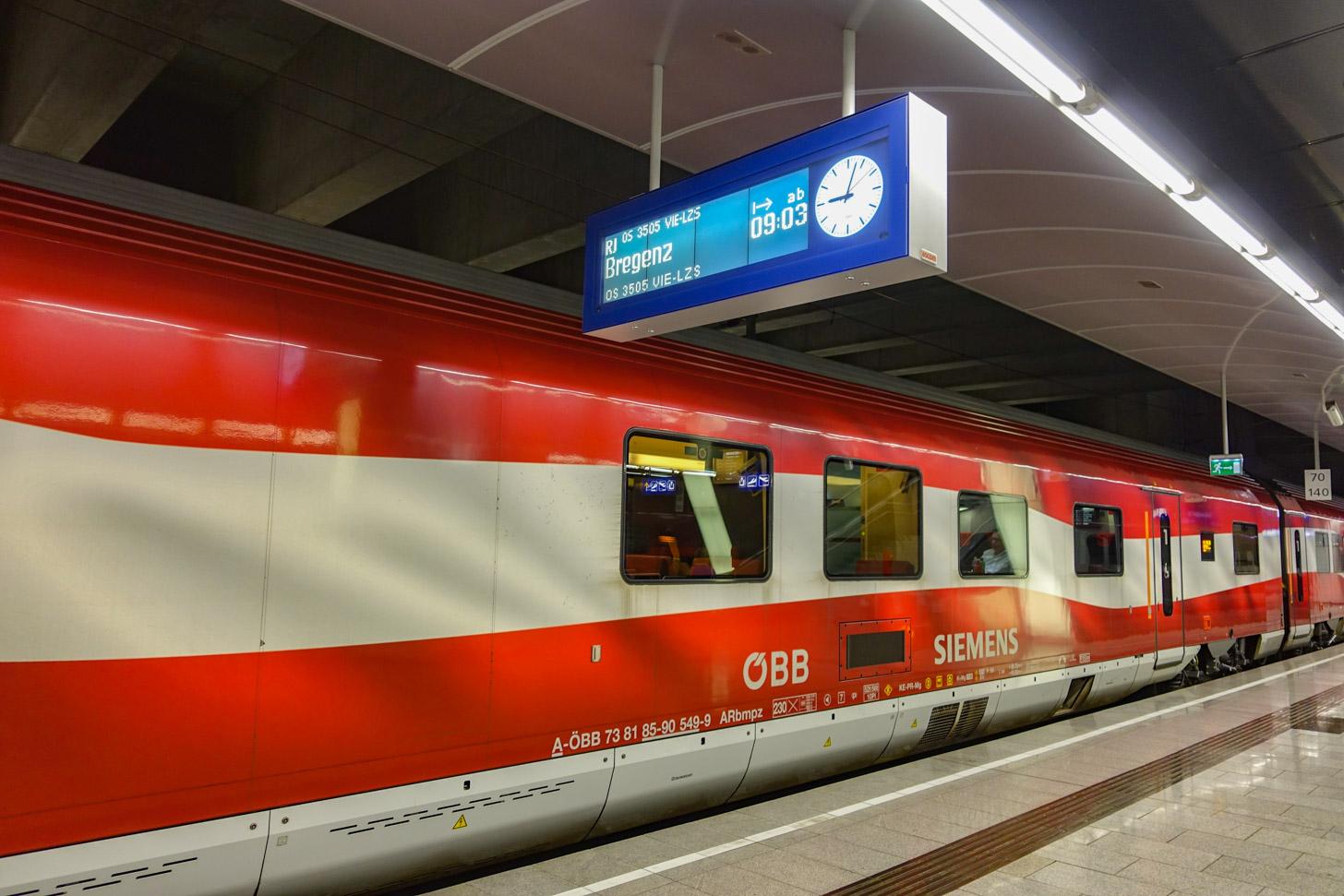 Met de trein naar Wenen reizen